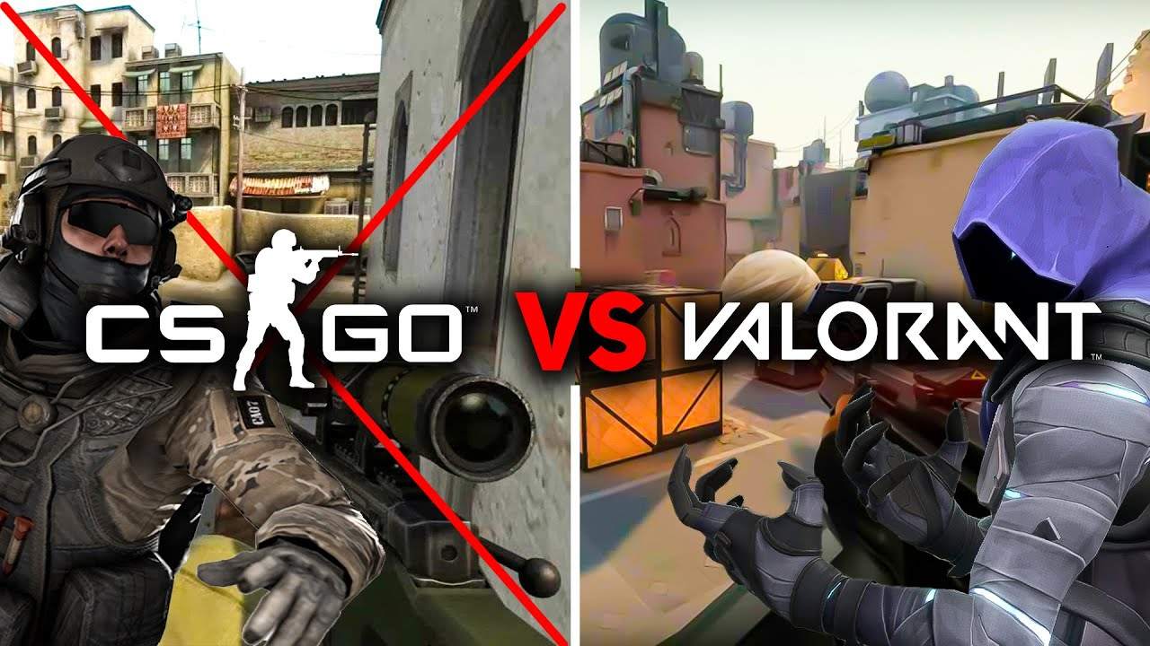 Comparison of Valorant vs. overwatch vs. csgo